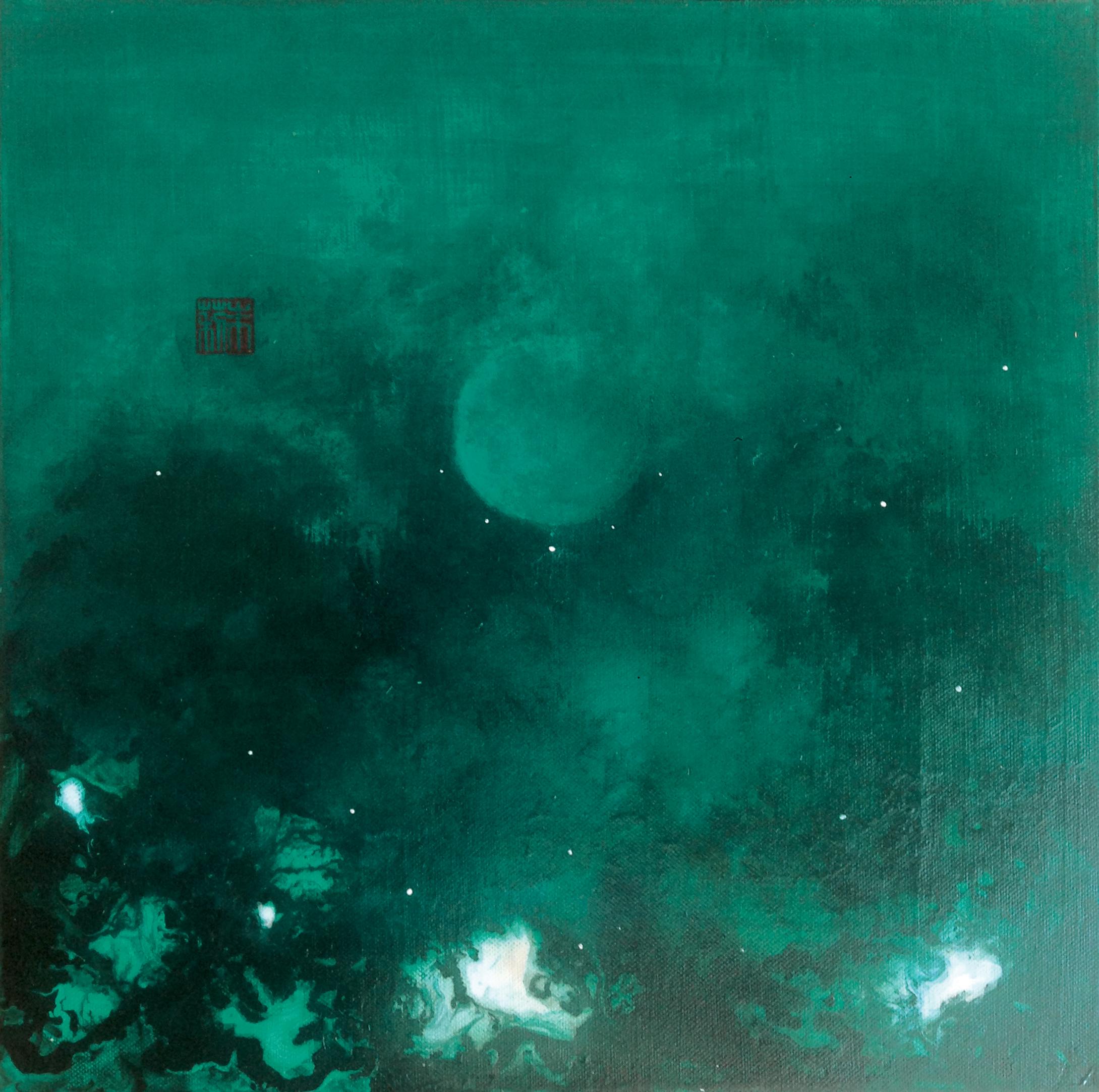 Julie Hauer, Untitled, 2015, Mischtechnik auf Leinwand, 40 x 40 cm